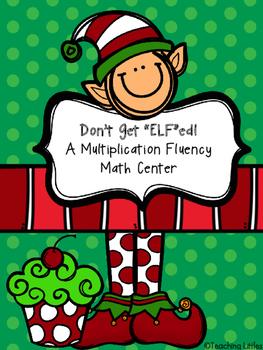 """Don't Get """"Elf""""ed:  A Multiplication Math Center"""