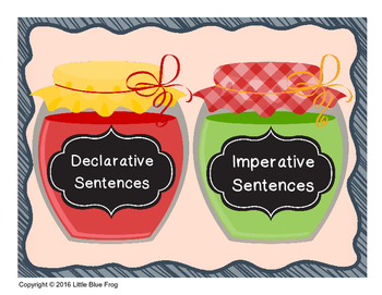 Don't Get Jammed Up--types of sentences