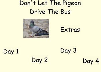 Don't Let The Pigeon Drive the Bus Weekly Lesson Plan - Fo