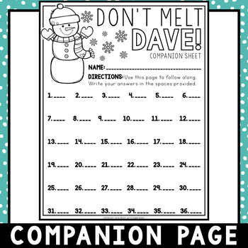 Don't Melt Dave! (Treble) an Interactive Music Concept Review Game {PDF/PPT}