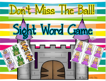 Don't Miss the Ball Sight Word Game