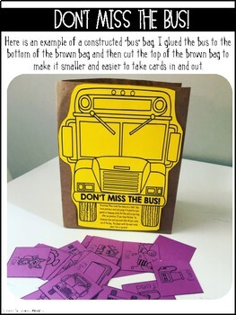 Don't Miss the Bus! {A Speech and Language Activity}