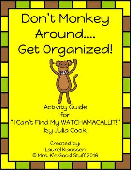 Don't Monkey Around!  Get Organized!