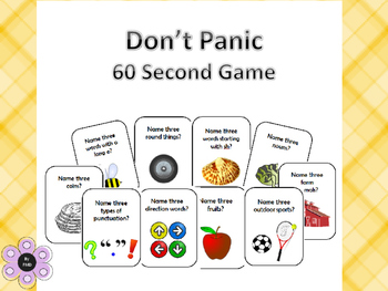 Don't Panic - 60 Second Game