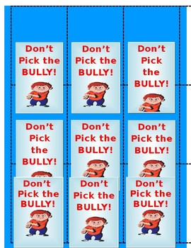 Don't Pick the Bully!