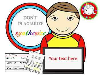 Don't Plagiarize, Synthesize! Clipart (Personal & Commercial Use)