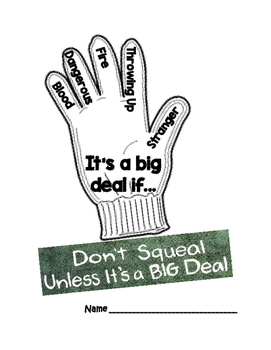 Don't Squeal Unless It's A Big Deal Activity Packet