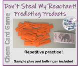 Don't Steal My Reactant!  Predicting Products of Chemical Reactions Game