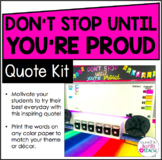 Don't Stop Until You're Proud - Quote Kit