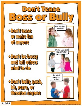 Don't Tease, Boss or Bully Poster - PBIS