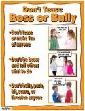 Don't Tease, Boss or Bully Poster - PBIS