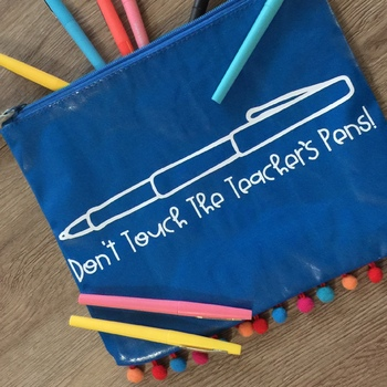 Don't Touch The Teacher's Pens SVG Design