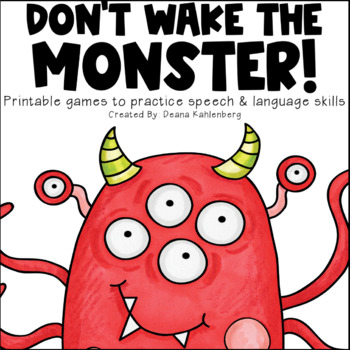 Don't Wake the Monster! {Articulation Games}