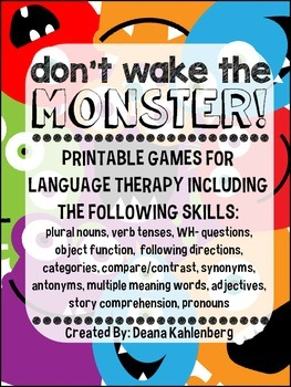 Don't Wake the Monster! {Language Games}