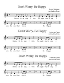 FREEBIE! Don't Worry, Be Happy - Recorder, 3 Versions