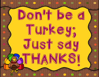 Don't be a Turkey!