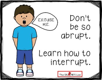 Social Stories for Autism: Don't be so abrupt. Learn how to interrupt.
