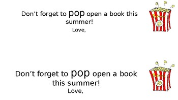 Don't forget to POP open a book this summer
