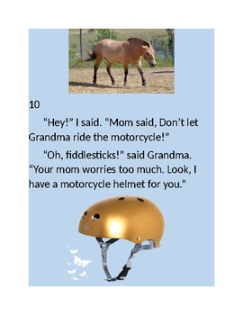 Don't let Grandma ride the motorcycle! (a classroom book for reading comp)