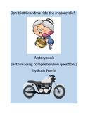 K-2nd grade storybook with reading comp {Don't let Grandma