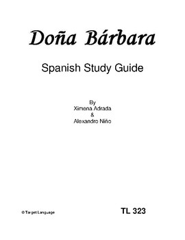 Dona Barbara-Spanish Study Guide