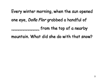 """Dona Flor """"Fill in the Blank"""" Reader"""