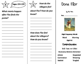 Dona Flor Trifold - Treasures 2nd Grade Unit 2 Week 2 (2011)