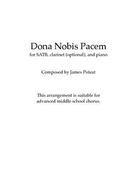 Dona Nobis Pacem (SATB, clarinet, piano)