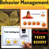 Halloween Token Reward Boards for Students with Autism