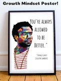 Donald Glover Childish Gambino Growth Mindset Poster Critical Thinking Prompt