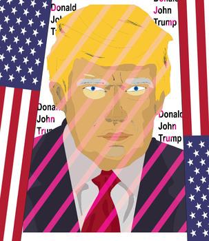 Donald John Trump, Statue of Liberty ... American Symbols Clip Art SET