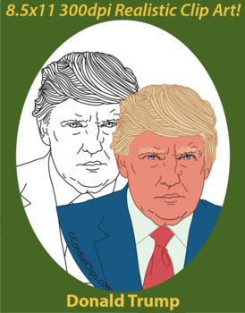 Donald Trump 45th President Realistic Clip Art