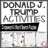 Donald Trump Activities Crossword Puzzle and Word Search Find