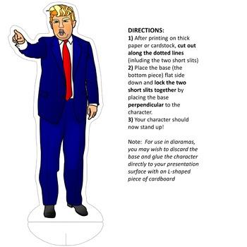Donald Trump Clipart and Paper Dolls