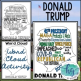 Donald Trump Coloring Page and Word Cloud Activity