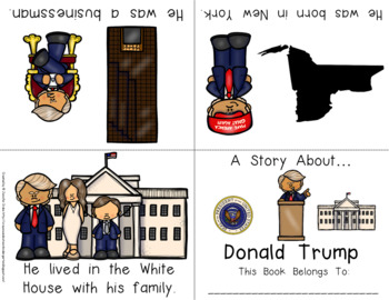 Donald Trump Foldable Emergent Reader ~Color & B&W~ PLUS Printable