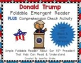 Donald Trump Foldable Emergent Reader ~Color & B&W~ PLUS P