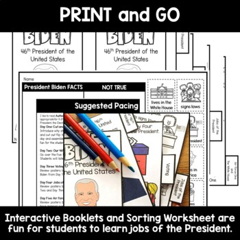 President Job Flip Tab Book and Poster Set for Kindergarten through 2nd Grade