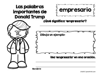 Donald Trump in Spanish (El dia de los Presidentes Trump)