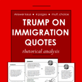 Donald Trump on Immigration Rhetorical Analysis and Reading Quiz
