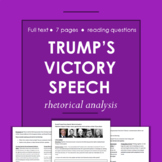 Donald Trump's Victory Speech Rhetorical Analysis