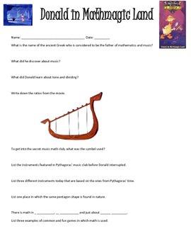 Donald in Mathmagic Land Lesson Math Meets Music Lesson Bundle