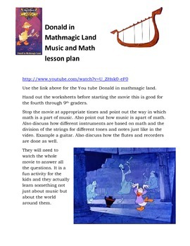 Donald in Mathmagic Land Lesson Math Meets Music Lesson Bundle