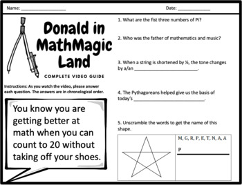 Donald in Mathmagic Land - Video Questions