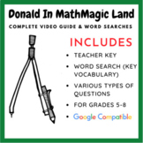 Donald in Mathmagic Land - Video Worksheet & Word Search (Bundle)