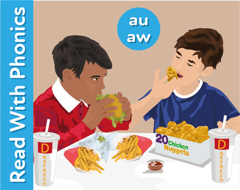 Donald's: Learn The Phonic Sounds au and aw (author and straw)