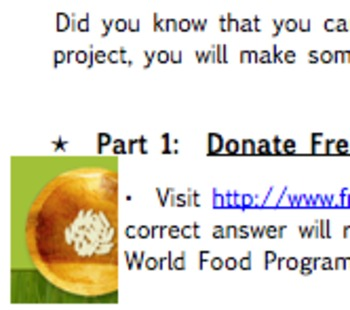 """Donate For Free!"" Math Project"