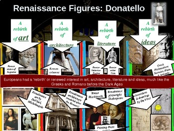 Donatello!  Visual, textual, engaging 10-slide PowerPoint