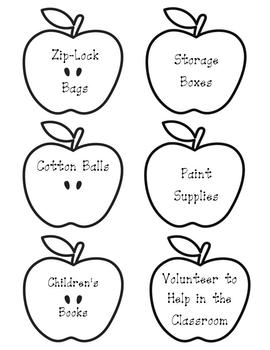 Donation Apples for Orientation and Open House
