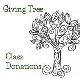Donation Giving Tree and Chalkboard Wish List Back To School Night Open House